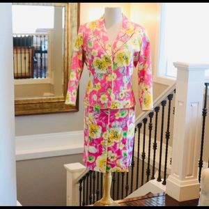 Womens Bob Mackie suit floral size 10 spring